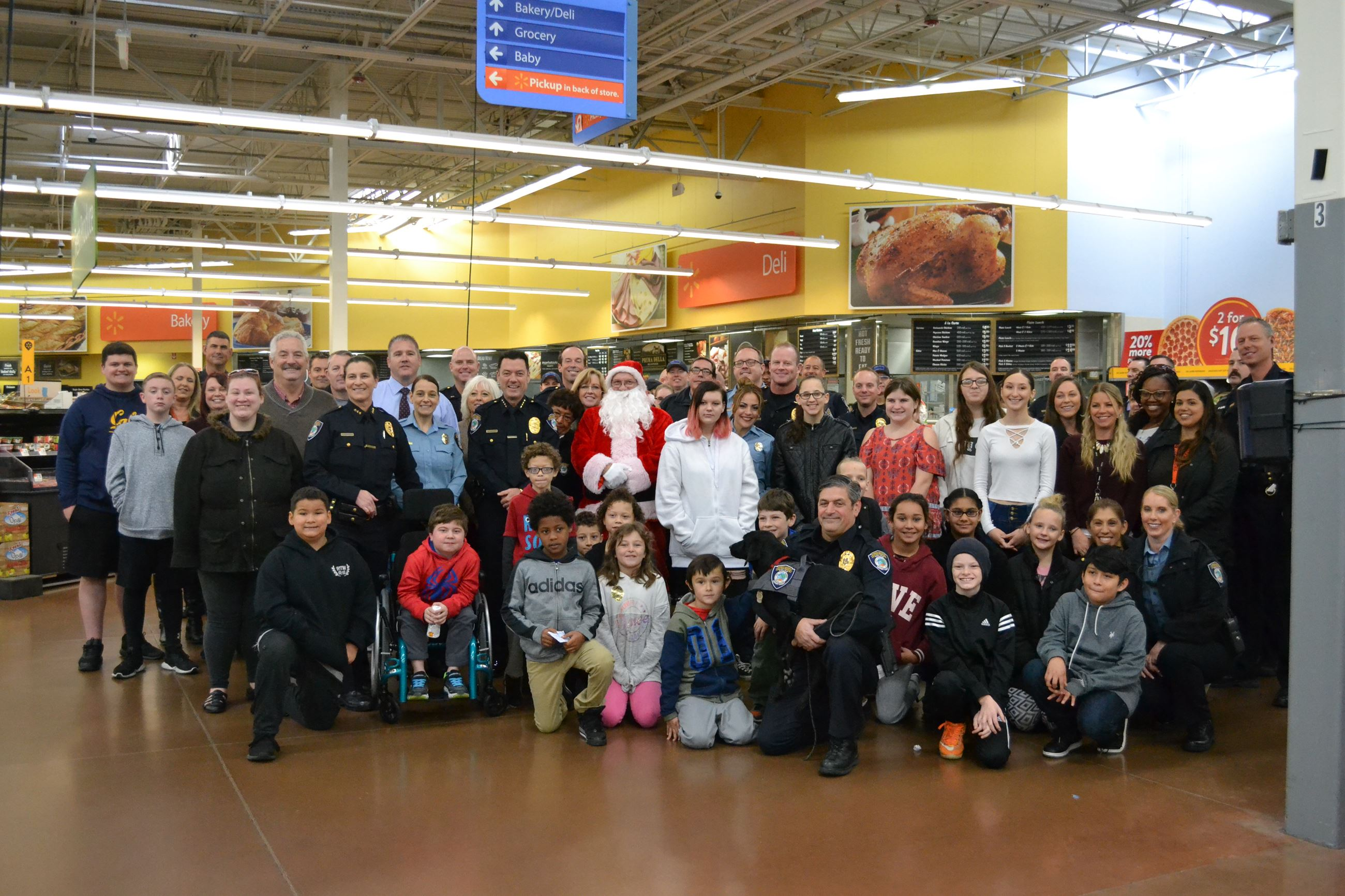 Group Photo with Police Personnel and Shoppers