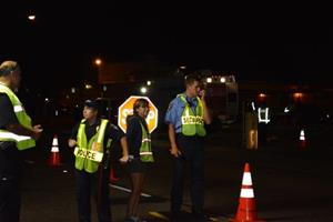 Photo of Interns helping with DUI Checkpoint