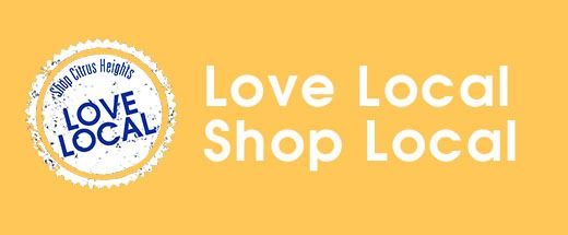 Yellow Love Local and Shop Local Button Opens in new window