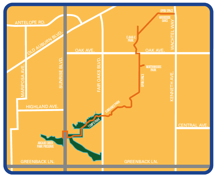 cartoon trail and regional park map