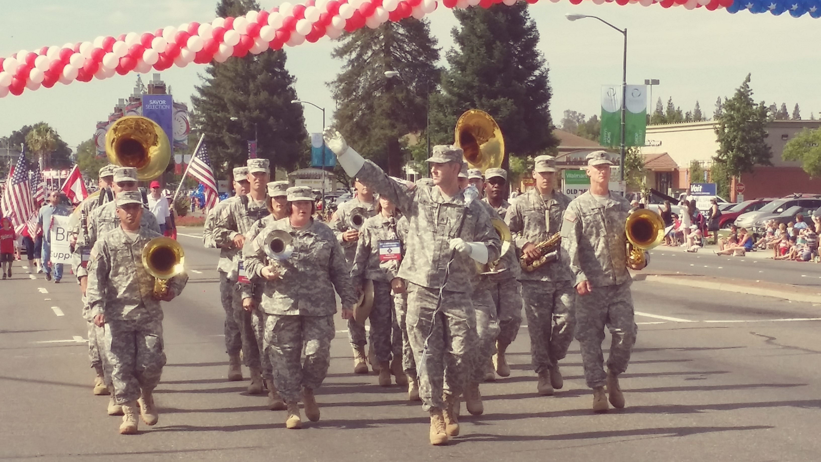 The military marching band