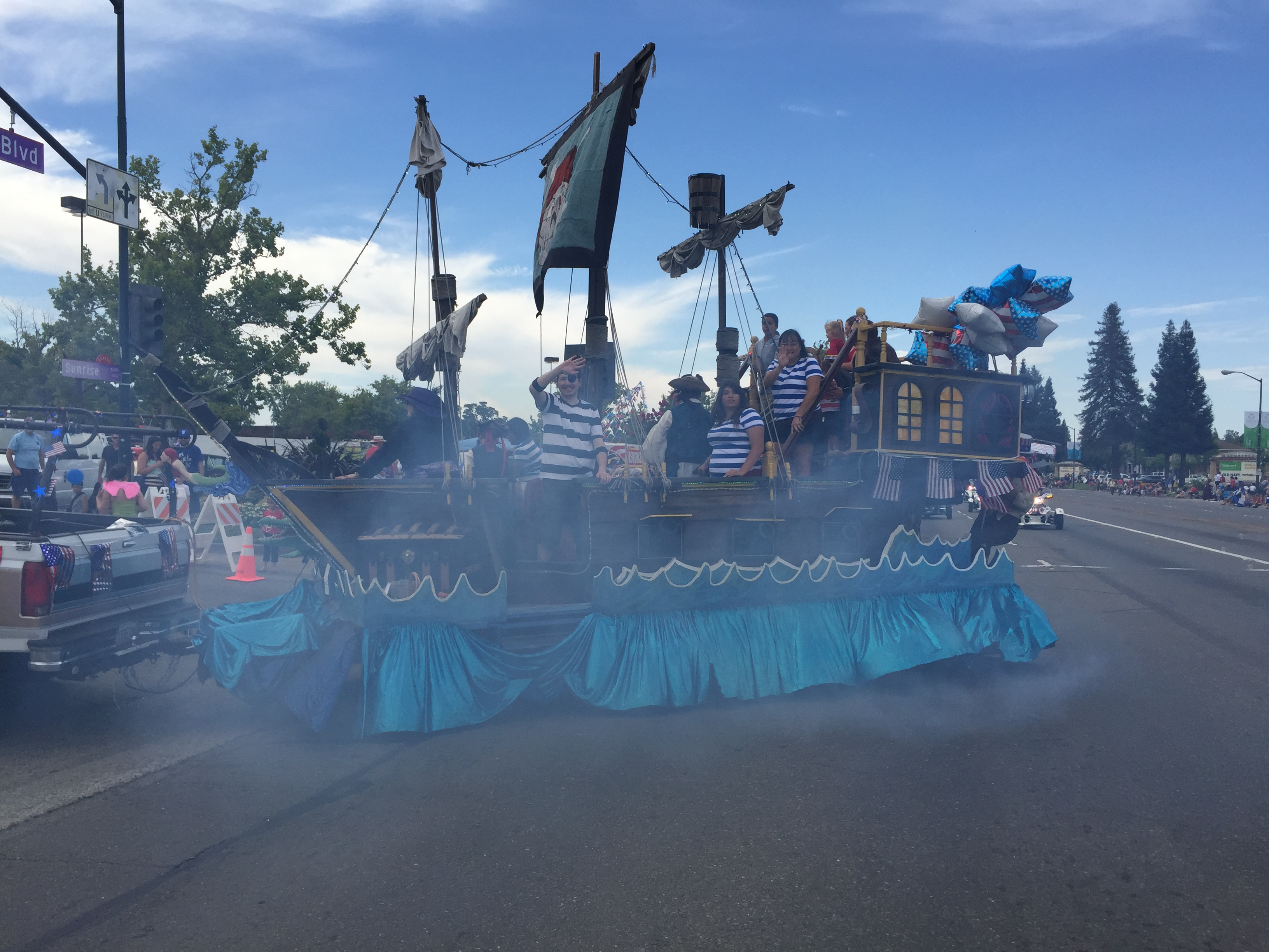 Pirate ship float